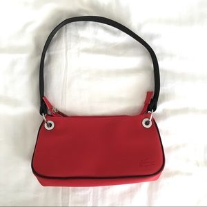 Lacoste Red Nylon Clutch